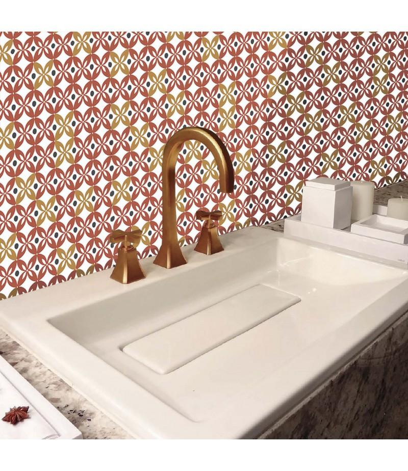 credence salle de bain sur mesure pvc effet carrelage