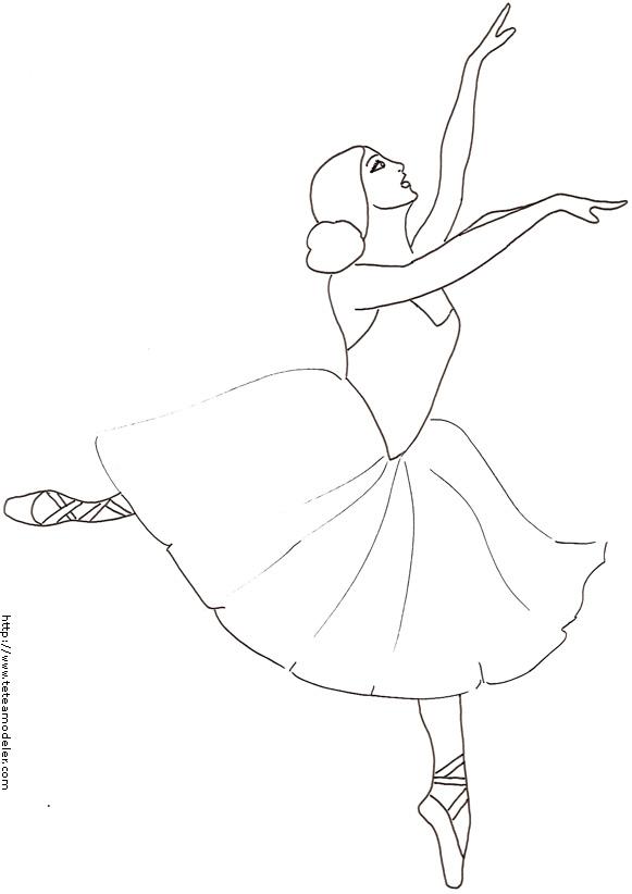 coloriage de danseuse classique