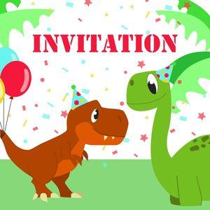 invitation d anniversaire dinosaure par