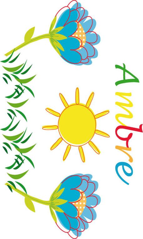 Activité prénom Ambre - Image fleur du prénom Anaïs à encadrer - Tête à modeler