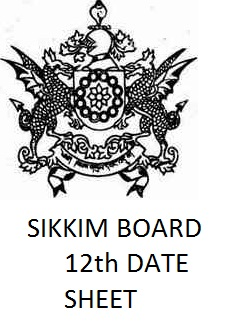Sikkim Board 12th Date Sheet 2018 Download HSC Time Table