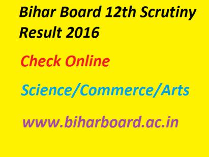 Bihar Board 12th Scrutiny Result