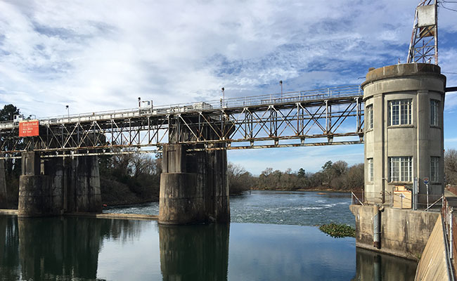 Tetra Tech designed a full-river-width rock weir fish passage to replace the aging New Savannah Bluff Lock and Dam.