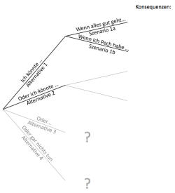 German Translations of Decision Coaching Methods: Szenarienbaum