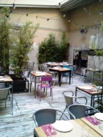 Restaurante Saporem  patio Te Veo en Madrid