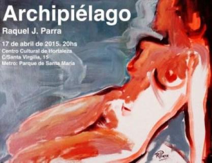 Cartel de la exposición Archipélago de Raquel J. Parra Te Veo en Madrid