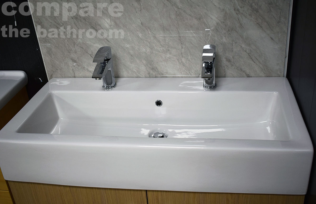 extra deep kitchen sink refacing slab basin bathroom 2 tap hole his hers