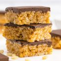 Peanut Butter Rice Krispie Treats (gluten-free, vegan options)