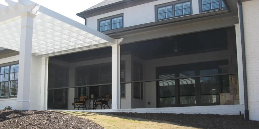 The Woodlands Motorized Porch Shades
