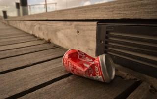 litter coca cola