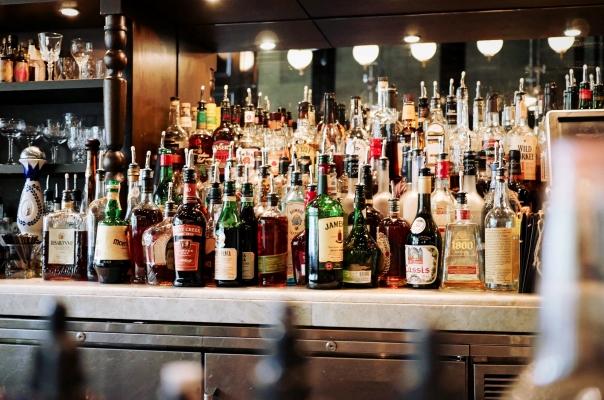 alcohol bottle bar