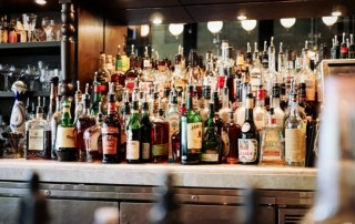 alcohol bottle bar
