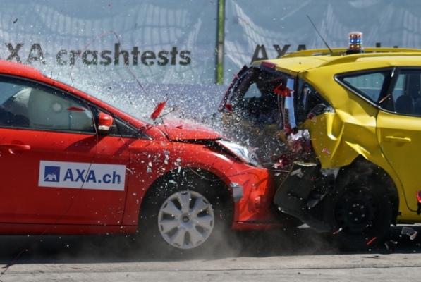 car crash fender bender