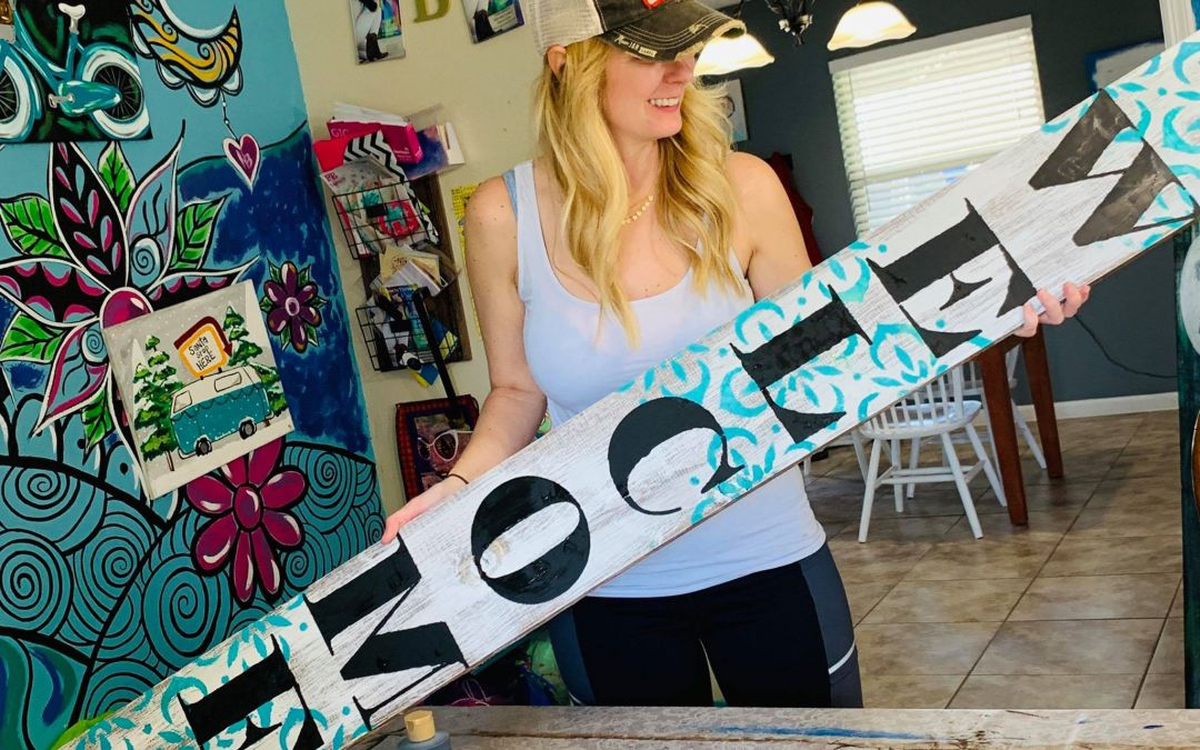 How to paint a Porch Sign