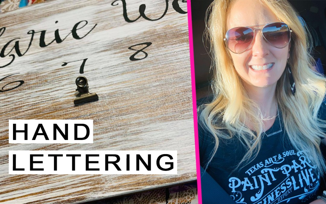 How to make your painted letters POP!