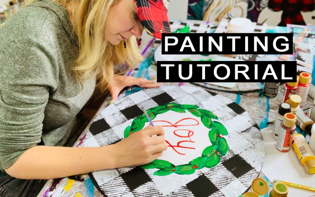 Learn EASY Leaves for a Wreath Painting