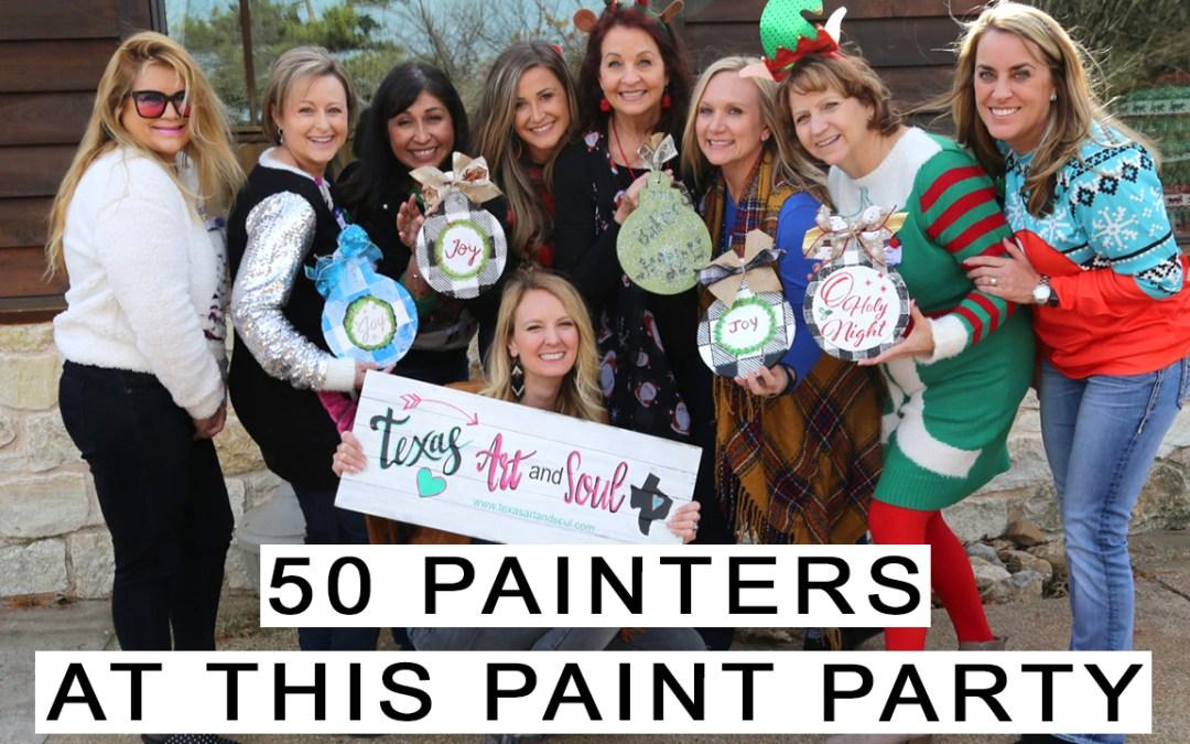 Paint Party Workout – 50 Painters!!!