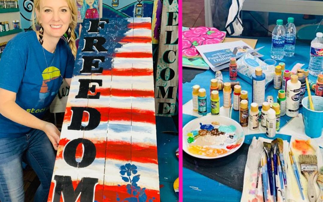 DIY Freedom Sign
