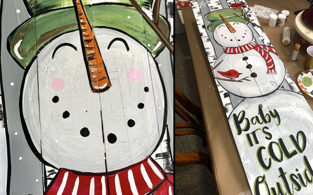 EASY SNOWMAN PORCH SIGN DECOR