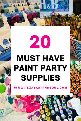 Must Have Paint Party Supplies Pin for Pinterest