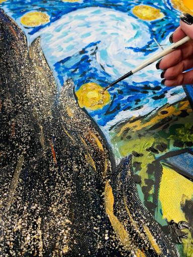 Starry Night Reproduction Painting