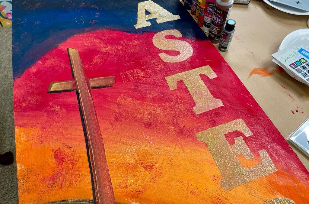 Make a Stunning Cross Painting Easter Sign