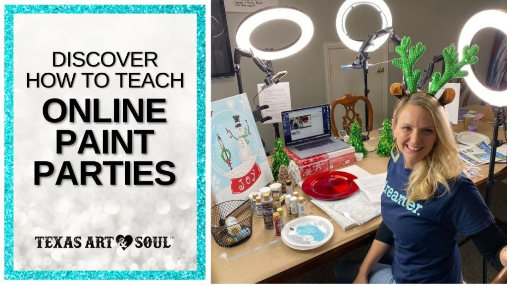 learn how to run a virtual paint party image banner