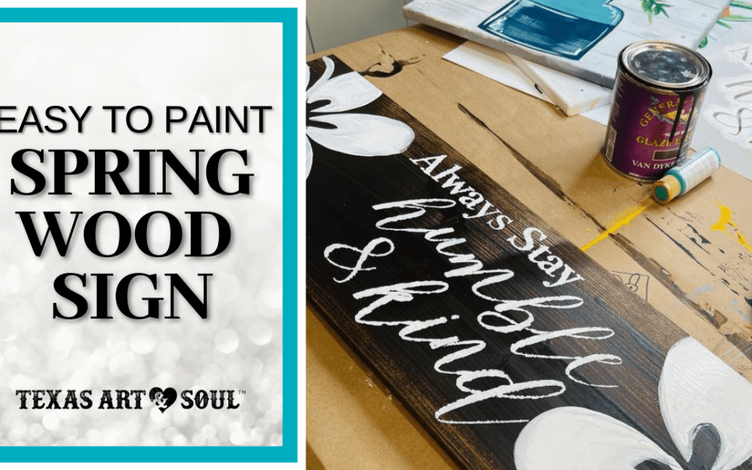 spring painting ideas - make this pretty floral sign