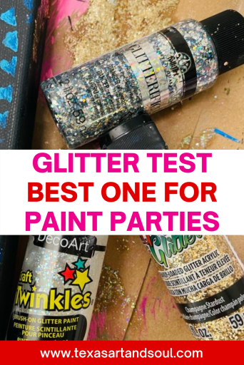 best glitter for paint parties pinterest pin with image of glitter paint
