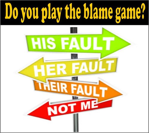 Image result for blame game