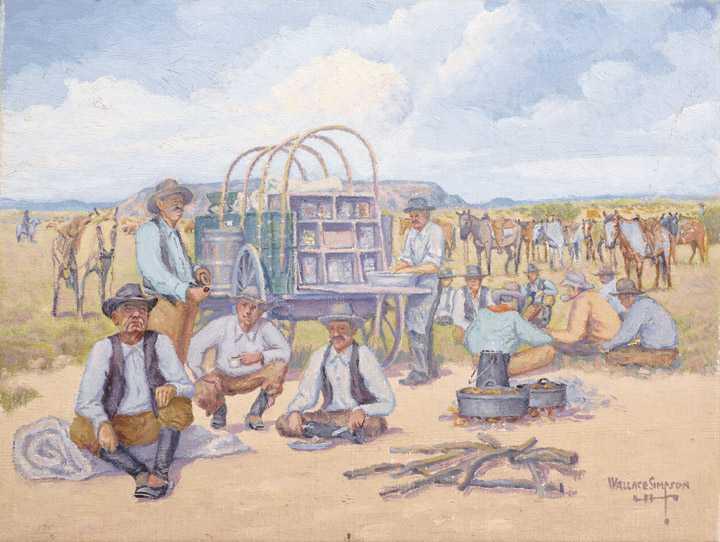 Buy Chuck Wagon Texas Ranch Art Artist Wallace Simpson