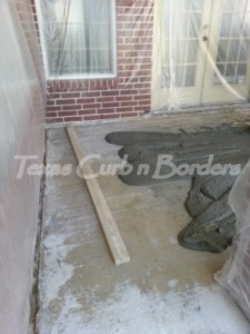 Concrete Staining Services Installation Before Image