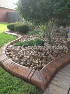 Pearland concrete border after image