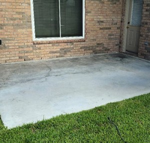 Concrete Resurfacing Patio Houston Before Image