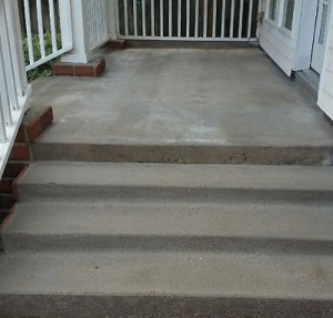Concrete Resurfacing Stairs in Houston Before Image