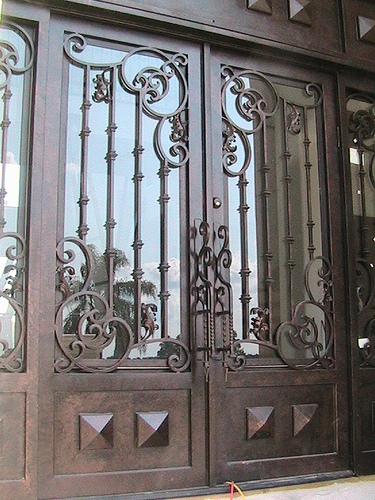Forged Iron Entry Doors Custom Designed Exterior Iron DoorsTexas