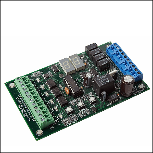 The Electronic Solutions ES520 is a versatile microprocessor-controlled interlock module which may be used for a variety of door applications.