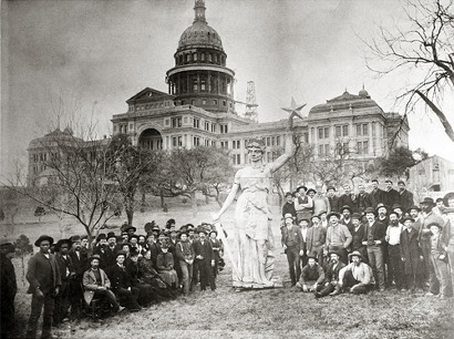 Texas State Capitol and Goddess