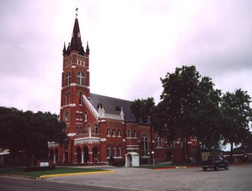 Sts Cyrus  Methodious Catholic Church Shiner Texas Painted Church