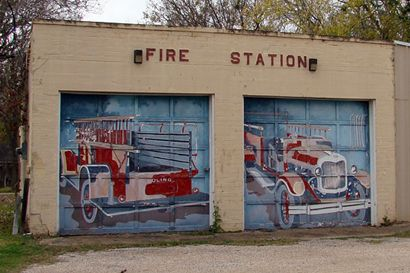 Boling Texas Fire Station with mural