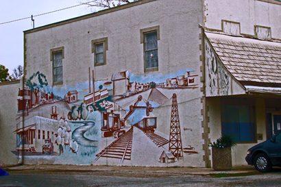 Boling Texas mural depicting oil boom