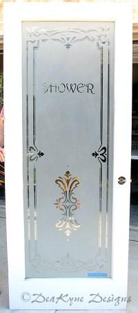 CABINET DOOR ETCHED GLASS  Cabinet Doors