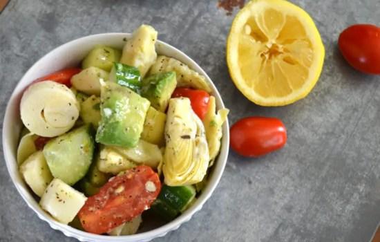 Artichoke Salad with Garlic Vinaigrette