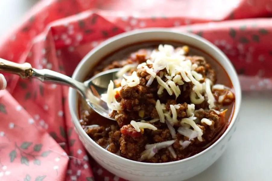 Bowl of Texas Style Venison Chili