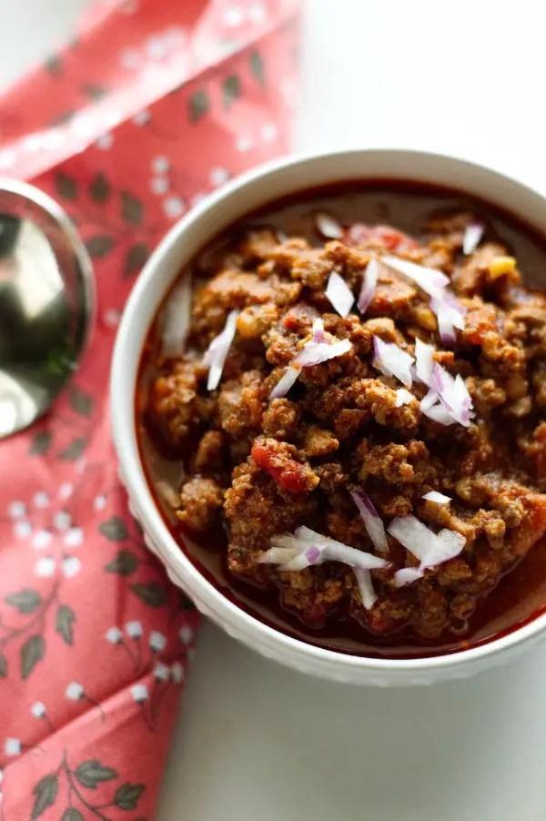 Texas Style Venison Chili Recipe