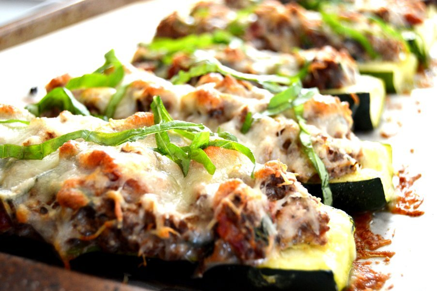 Stuffed Zucchini with Venison & Ricotta Low Carb, Gluten Free