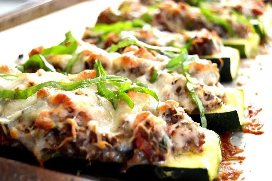 Stuffed Zucchini with Venison & Ricotta Low Carb, Gluten Free