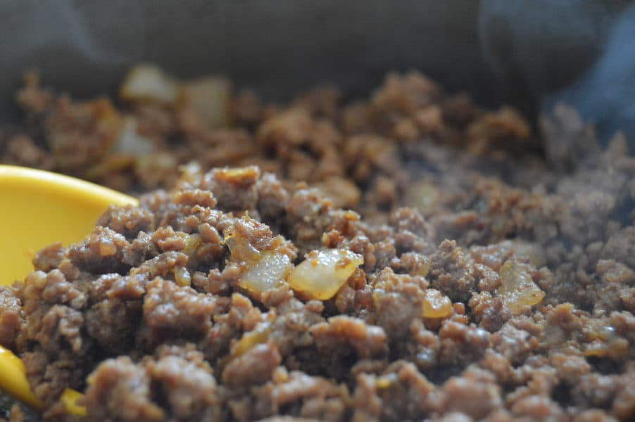 Tex- Mex Taco Meat is only ground meat recipe you will ever need! Perfectly seasoned ground meat seasoned with onions and spices is the perfect start to any of your favorite meals! Gluten Free, Low Carb, Paleo Friendly