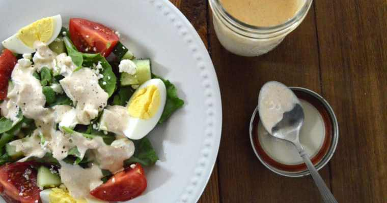 Creamy Garlic Feta Dressing