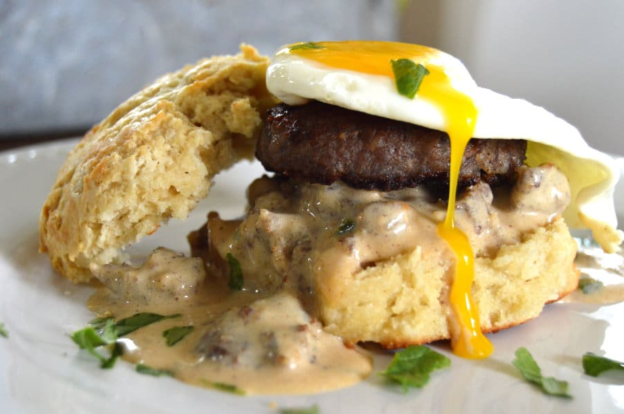 Cowboy style eggs benedict gluten free 3